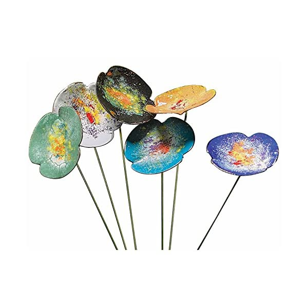ART-ARTIFACT-Copper-Enamel-Flowers-IndoorOutdoor-Metal-Floral-Bouquet-Decor-for-Potted-Plants-Garden-and-Yard