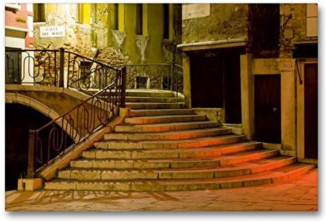 CALVENDO - Lienzo de tela (90 cm x 60 cm, horizontal, escaleras para gasse de los muertos (alle dei morti), imagen sobre bastidor: Müller, Andreas: Amazon.es: Hogar