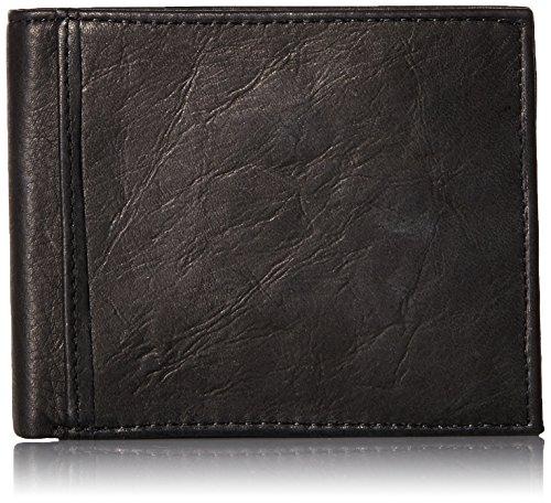 Fossil Men's Bifold RFID Flip Rfid Black ID Wallet Ingram rrdRZwUq