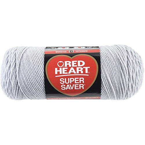 RED HEART E300.0341  Super Saver Yarn, Light - Red Grey