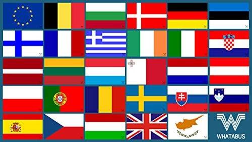 Whatabus Eu Alle Länderflaggen Der Europäischen Union Aufkleber Set 29 Sticker Auto