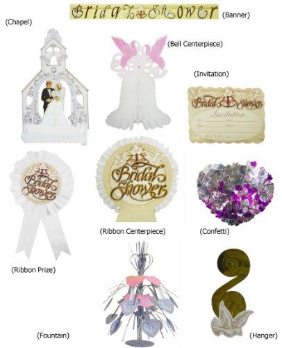 Bridal Shower Decoration Set - 8 Piece Bell Decoration Bridal Shower