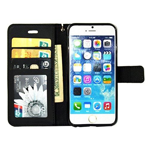 Para el iPhone 7 más flor en relieve flor de mariposa patrón de diamante Encrusted horizontal flip cubierta de cuero de la caja con el titular y la tarjeta de ranuras y la cartera y marco de fotos y c IP7P1116B