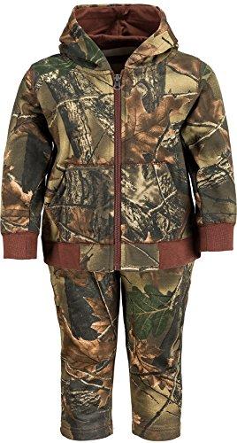 Infant - Toddler Camo Two Piece Cotton Jacket & Pants Set, 2T, Camo