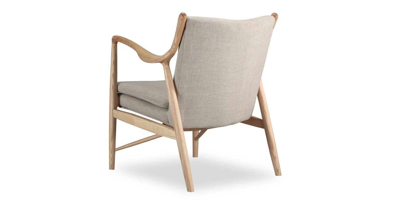 Super Kardiel Copenhagen 45 Mid Century Modern Arm Chair Urban Hemp Twill Natural Creativecarmelina Interior Chair Design Creativecarmelinacom