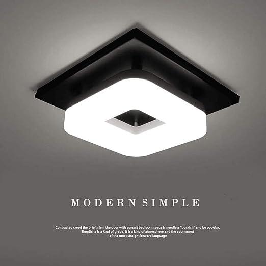 Luz de techo LED moderna de 12W, lámpara de techo cuadrada ...