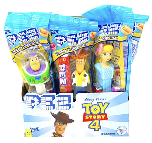 PEZ Toy Story 4 Candy Dispensers Individually Wrapped PEZ Candy and Dispensers with Tru Inertia Kazoo 12 Pack ()