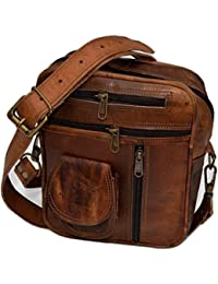 Men's Genuine Leather Shoulder Bag Small Cross Body Unisex bag