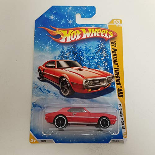 '67 Pontiac Firebird 400 Red Color Snowflake Carded 2010 Hot Wheels New Models 1/64 Scale diecast car No. 003