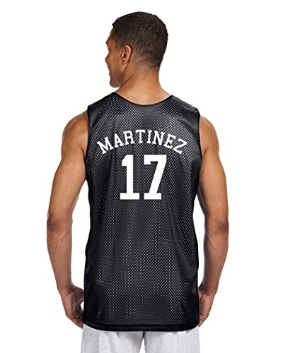 Custom Curved Name + Number Men's Reversible Tank Athletic Basketball Jersey