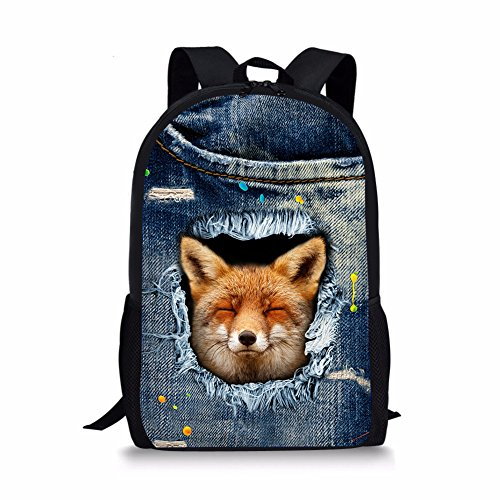 Cartable 1 Fox Noir Moyen Fox Chaqlin 5 zw77F