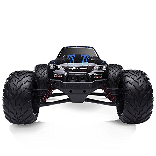 HOSIM All Terrain RC Car 9112, 38km/h 1/12 Scale Radio Controlled Electric Car – Offroad 2.4Ghz 2WD Remote Control Truck – Best Christmas Gift for Kids and Adults (Blue)