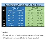 Dark Lightning 3/2mm Youth Boys Wetsuit, Kids