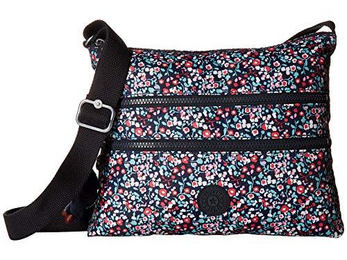 (Kipling Women's Alvar Bag, Adjustable Crossbody Strap, Zip Closure, Glistening Poppy Blue)