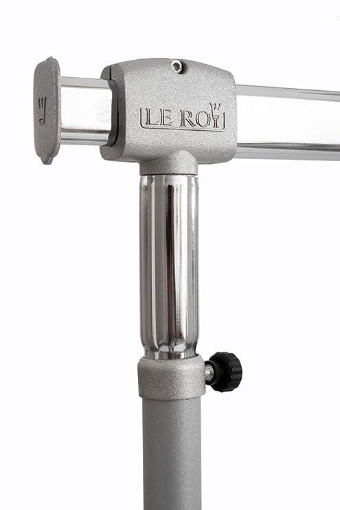 Perchero Burro Con Ruedas Le Roi Mod.Titanio Altura Ajustable Pies En Aluminio Fundido Robusto Y Versátil Modelo Profesional con barras ajustables es ...