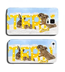 Happy Easter in the snow cell phone cover case Samsung Note 4