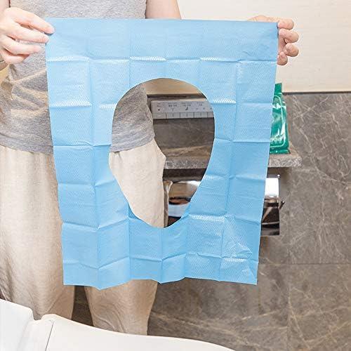 旅行使い捨てトイレパッド 使い捨て便座カバー ポータブル 旅行トイレ便座紙 1ピース