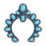 Sterling Silver & Small Sleeping Beauty Turquoise Naja Enhancer Pendant…