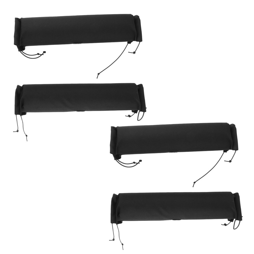 MagiDeal 4 Pieces Soft Padded Car Roof Bar Rack Pads Universal for Kayak Canoe Surfboard Snowboard Paddleboard Protection