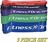 Resistance Workout Pull Up and Fitness Band(s) for Exercise with Mini Band(s) (#7 Five-Piece Set Ultimate Fitness Dreamer Full Collection (Red, Black, Purple, Green, Blue))