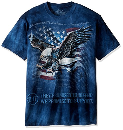 The Mountain Men's Eagle Defend T-Shirt, Blue, 3XL