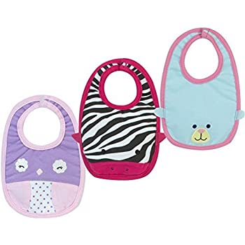 Amazon Com Baby Doll Bib Set By Sophia S 3 Baby Bibs