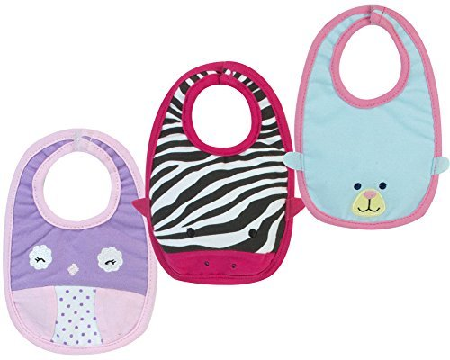 (Sophia's Baby Doll Bib Set, 3 Baby Bibs with Animal Faces fits American Girl Baby Dolls & More! )
