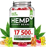 Evo Naturals Hemp Gummies - 17500 MG Blend - 292 MG per Serving - Relaxing Oil Gummies - Stress & Anxiety Relief - Effective Mood Support - with Omega 3,6,9 & Vitamin E, B - Made in USA Larger Image