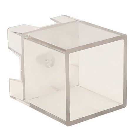 SGerste - Molde para hacer velas con forma de cubo cuadrado, transparente, para manualidades