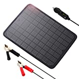 ALLPOWERS 18V 12V 10W Portable Solar Panel Battery Charger Maintainer Bundle with Cigarette