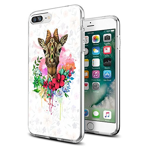 Giraffes Male - Cocomong Cute Giraffe Animal Floral iPhone case for iPhone 7 8 Plus 5.5