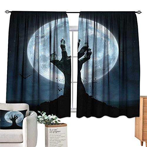 Mannwarehouse Curtain Rod Bracket Halloween Zombie Grave W55 xL45 Suitable for Bedroom,Living,Room,Study,etc. ()