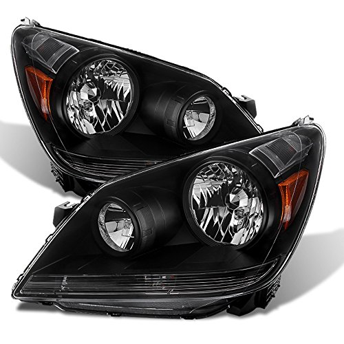 - ACANII - For 2005-2010 Honda Odyssey Headlights Headlamps 05-010 Black Housing Driver + Passenger Side