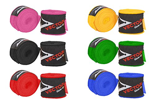 Mexican Style Professional Men And Women Boxing MMA Kickboxing and Muay Thai 4.5 Meters Best Hand Wraps Six Colors (Pair)