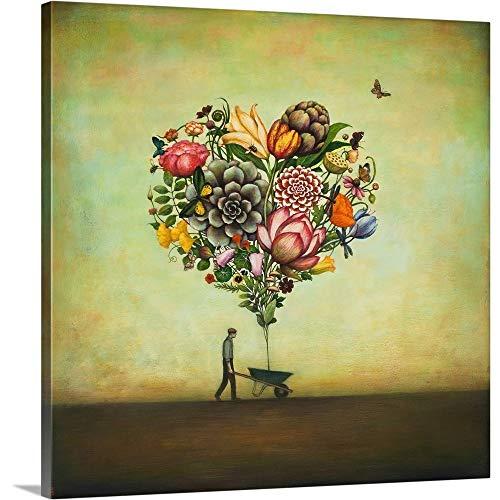 Big Heart Botany Canvas Wall Art Print, 16 x16 x1.25