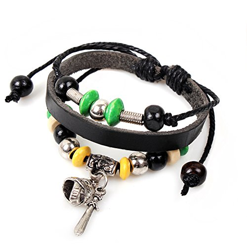 Europe-style Roman Gladiator Helmet Leather Bracelet Adjustable Cuff Charm (Homemade Gladiator Costume)