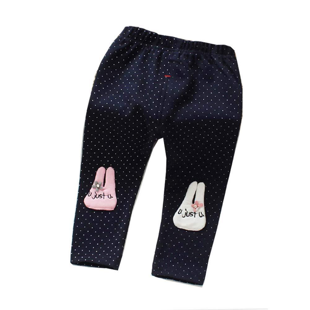 Urmagic Fille Pantalons Enfant Stretch Hiver Chaud Legging Sculptant Bébé Fille Motif Lapin Pantalon