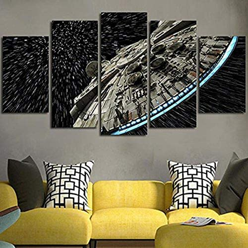 JESC Wall Decor Canvas Picture Batman Poster 5 Pieces Art Home Framed HD Printed Canvas Painting