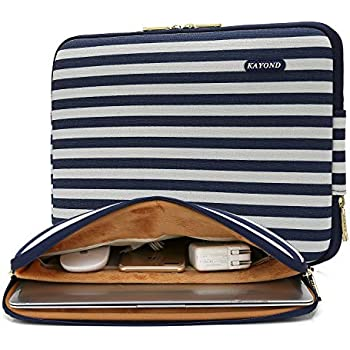 ac3dc1e425 KAYOND 17 Inch Laptop Sleeve-Canvas Water-Resistant Case Bag((17 inches