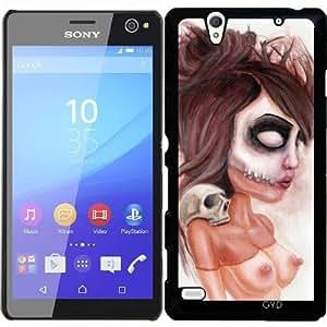 Funda para Sony Xperia C4 - Impresión De Cráneo Semejante A La Muerte by Rouble Rust