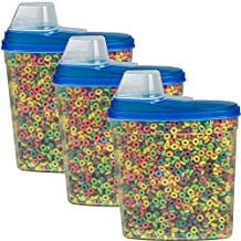 Large Cereal Keeper Food Storage Plastic Container 23.75 Cup Kitchen Baking Canister - by HowPlumb