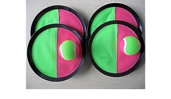 Bandito - Pelota de Velcro (Catchball) con 4 Discos y 2 Bolas de ...