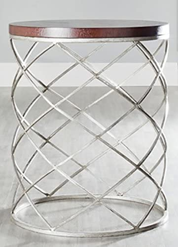 Safavieh Phoebe Accent Table, Wood Top Silver