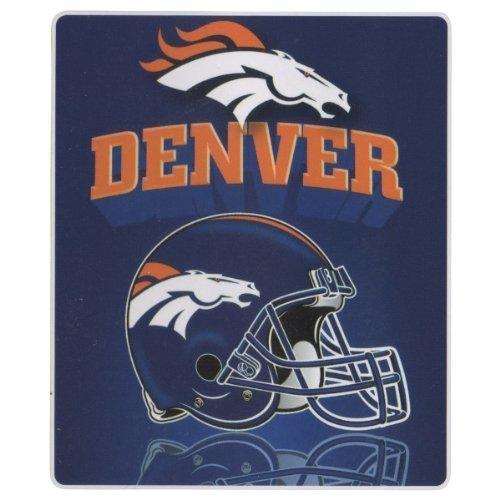 Denver Broncos Lightweight Fleece Blanket (Reflecting Helmet, 50