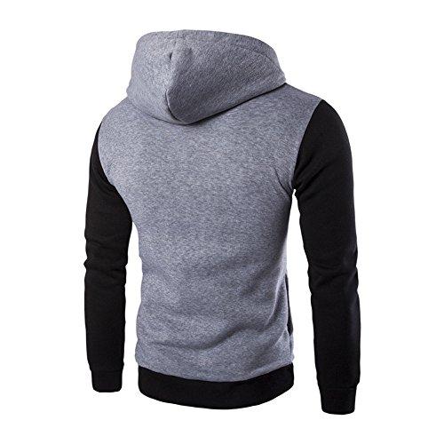 Chemisier gris Sweat À Hommes Tee Morchan Top Manches Plaid Automne Longues Capuche ❤ H Outwear 6qUxfY7