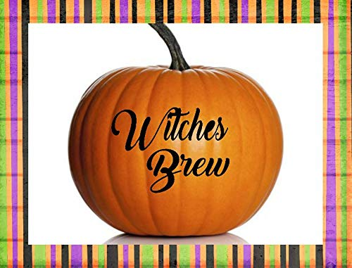 Moira Witches Brew Decal Halloween Party Decal Punch Bowl Decal Pumpkin Decal Fall Party Decor Witch Decal Witch Sticker Witches Brew -