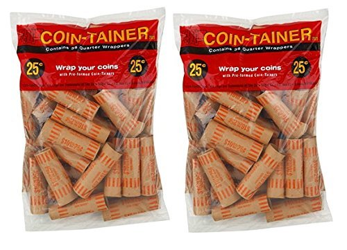 Quarter Coin Tubes - ATB 72 pcs Preformed Quarter Tubes Paper Coin Wrapper Shotgun Roll