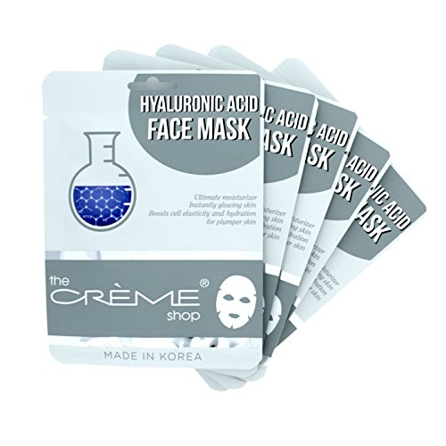 Hyaluronic Acid Face Mask (The Creme Shop Hyaluronic Acid Face Mask 5 Piece Collection)