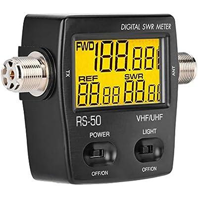 Garsent Standing Wave Meter Power Meter Portable digital shortwave standing wave meter SWR power meter 125-525MHZ Frequency meter with backlight