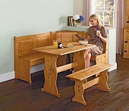 Amazing Puerto Rico 3 Corner Bench Nook Pine Table And Be Amazon Co Unemploymentrelief Wooden Chair Designs For Living Room Unemploymentrelieforg
